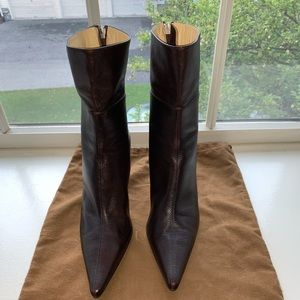 NWOT Gucci Ankle Leather Boots 115159 - Size 8